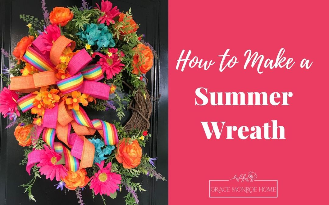 DIY Summer Wreath Tutorial