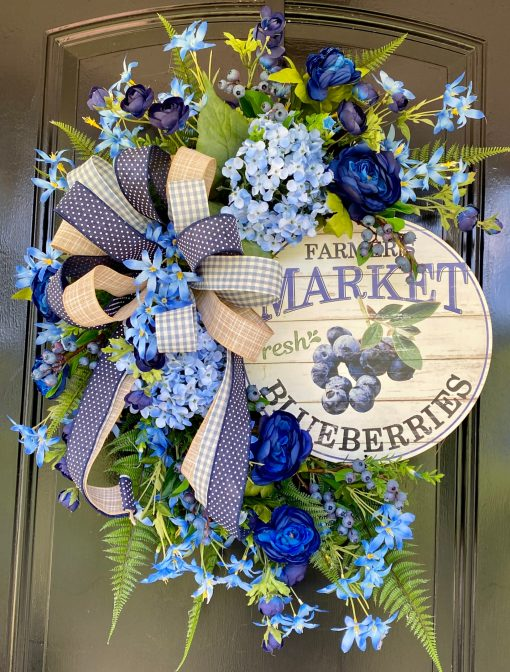 Summer Wreath with Blueberries