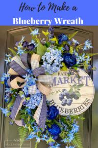 DIY Summer Wreath with Blueberries