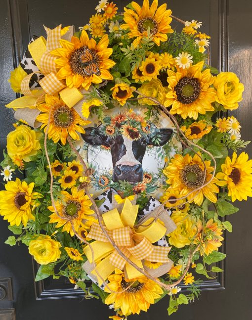 Wreath with Sunflowers