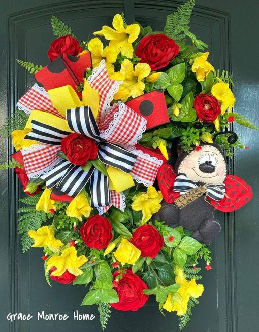 Summer Wreath for Door