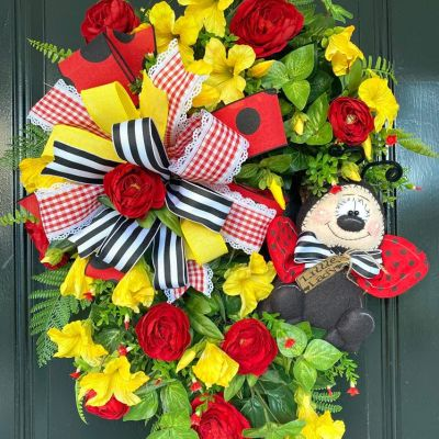 Summer Wreath for Door