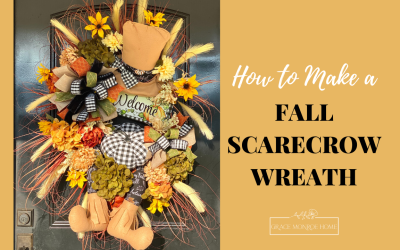 How to Make a Fall Scarecrow Wreath