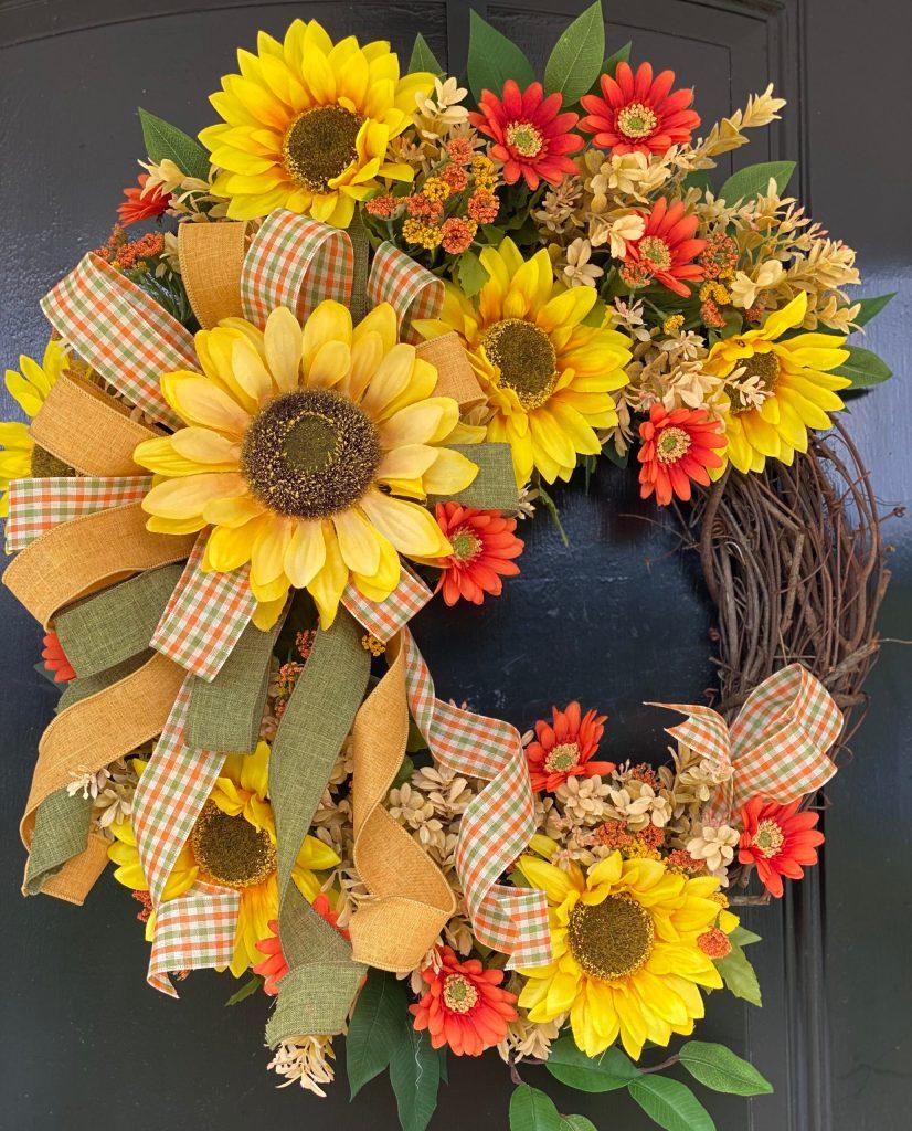 How To Make A Fall Sunflower Wreath Grace Monroe Home