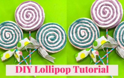 DIY Yarn Lollipops