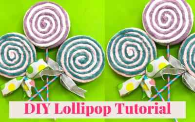 DIY Yarn Lollipops