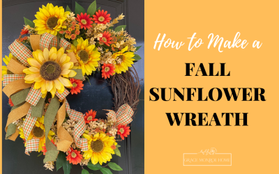 How to Make a Fall Sunflower Wreath
