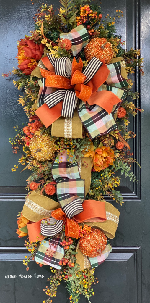 How to Make a Fall Swag for Your Front Door