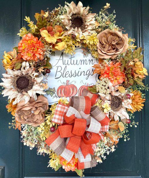 Designer Fall Wreath for Doors
