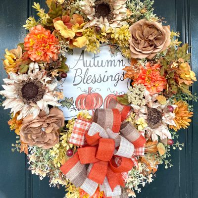 Designer Fall Wreath for Doors