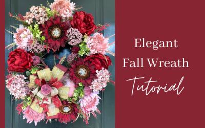 How to Make an Elegant Fall Wreath