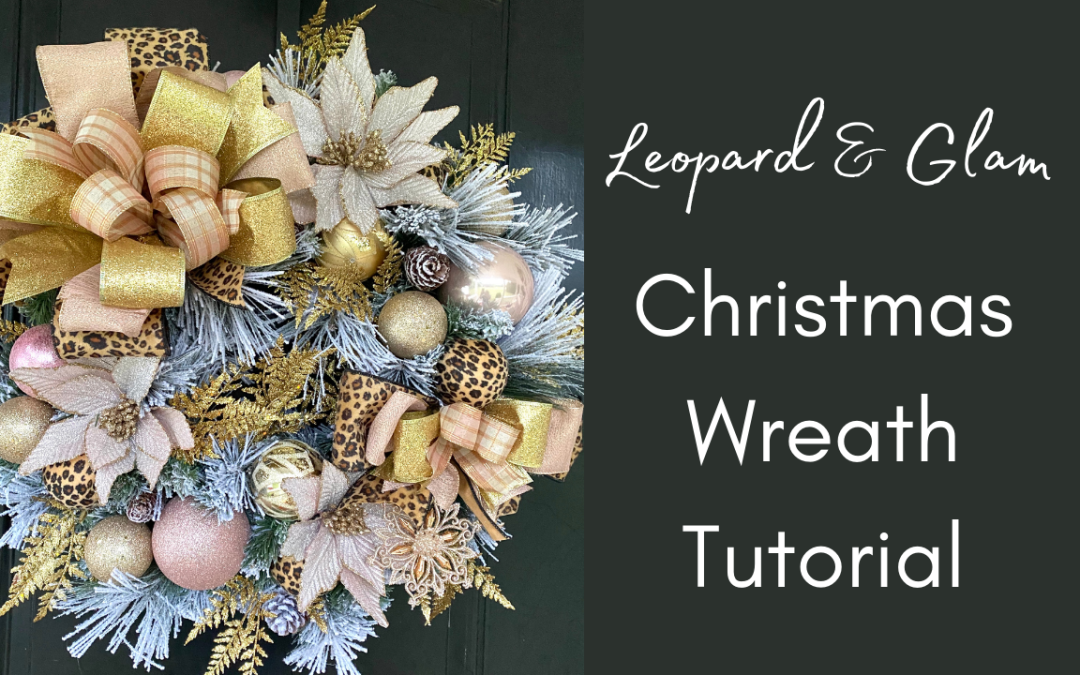 DIY Leopard Print Christmas Wreath