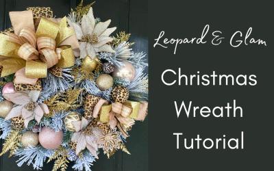 DIY Leopard Print Christmas Wreath