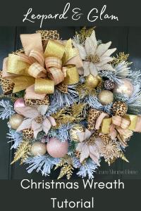 How to Make a Leopard Print Christmas Wreath