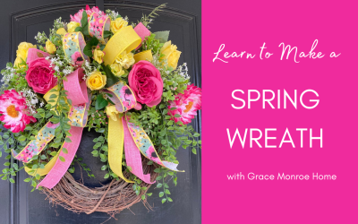 How to Make a Spring Wreath for Your Door