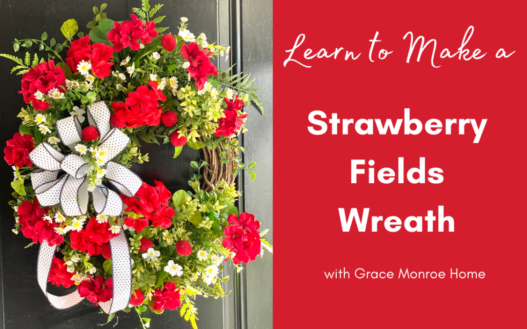 Strawberry Fields Wreath Tutorial