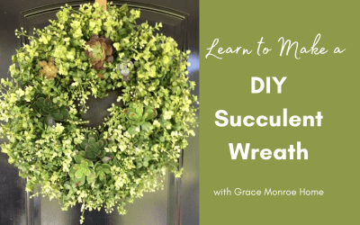 How to Make a Wreath with Artificial Succulents
