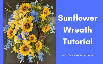 DIY Summer Sunflower Wreath