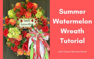 DIY Watermelon Wreath Tutorial