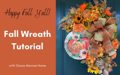 Happy Fall Y'all Wreath Tutorial