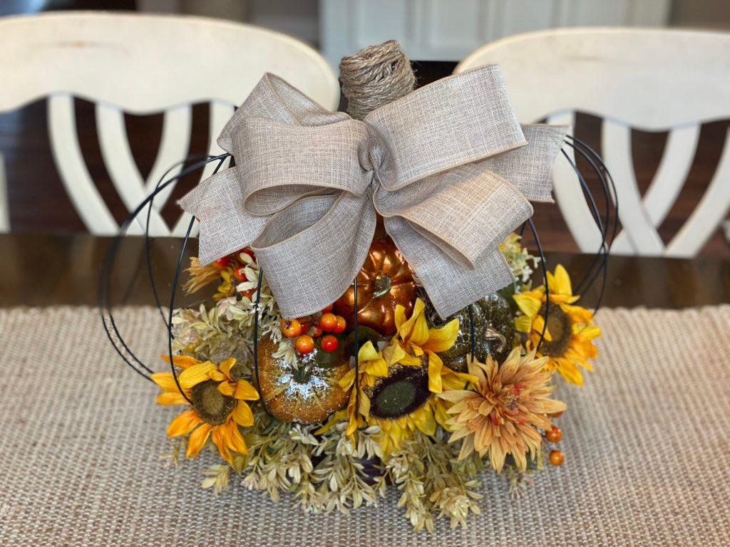 Learn to Make a Dollar Tree Pumpkin Arrangement