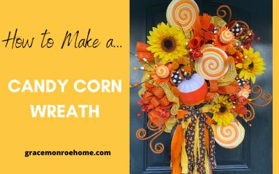 DIY Candy Corn Wreath