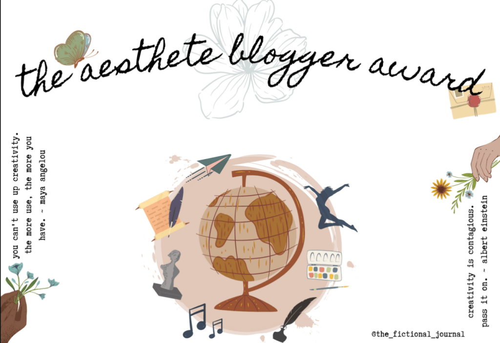 The Aesthete Blogger Award!