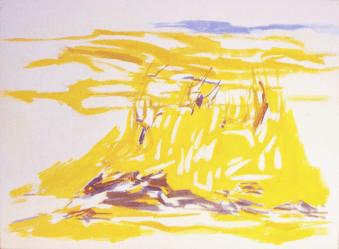 Grace Renzi : N° 384 : 1995, oil on canvas, 60 x 81 cm .