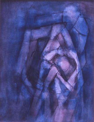Grace Renzi : N° 141 : 1971, black ink, watercolor, 30 x 25 cm.