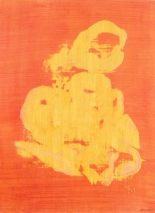 Grace Renzi : N° 183 : 1976, acrylic on canvas, 50 x 35 cm.