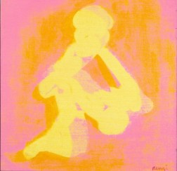 Grace Renzi : N° 184 : 1976, acrylic on canvas, 30 x 30 cm.