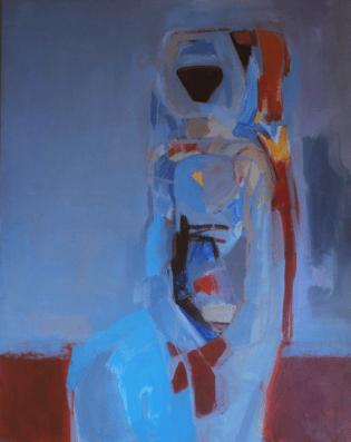 Grace Renzi : N° 204 : 1970's, acrylic on canvas, 100 x 80 cm.