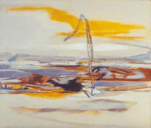 Grace Renzi : N° 272 : 1983, oil on canvas, 75 x 92 cm.
