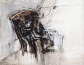 Grace Renzi : N° 61 : 1962, ink + watercolor on paper, 25 x 33 cm.