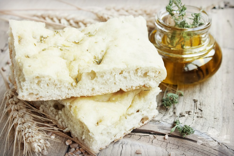 flour with olive oil