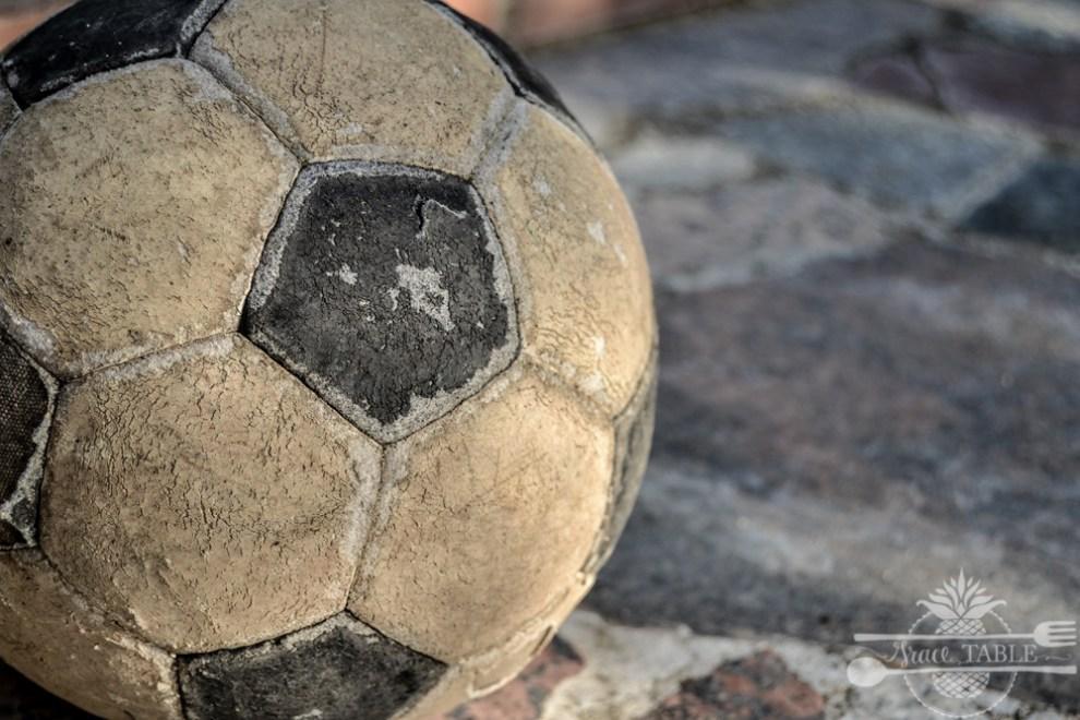 worn soccer ball