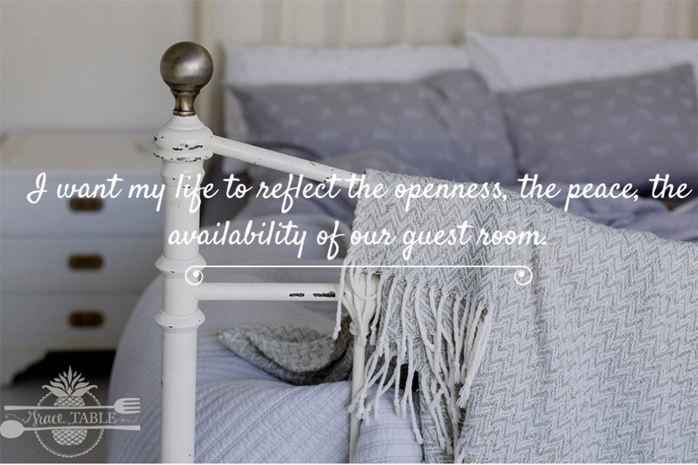 I want my life to reflect the openness,