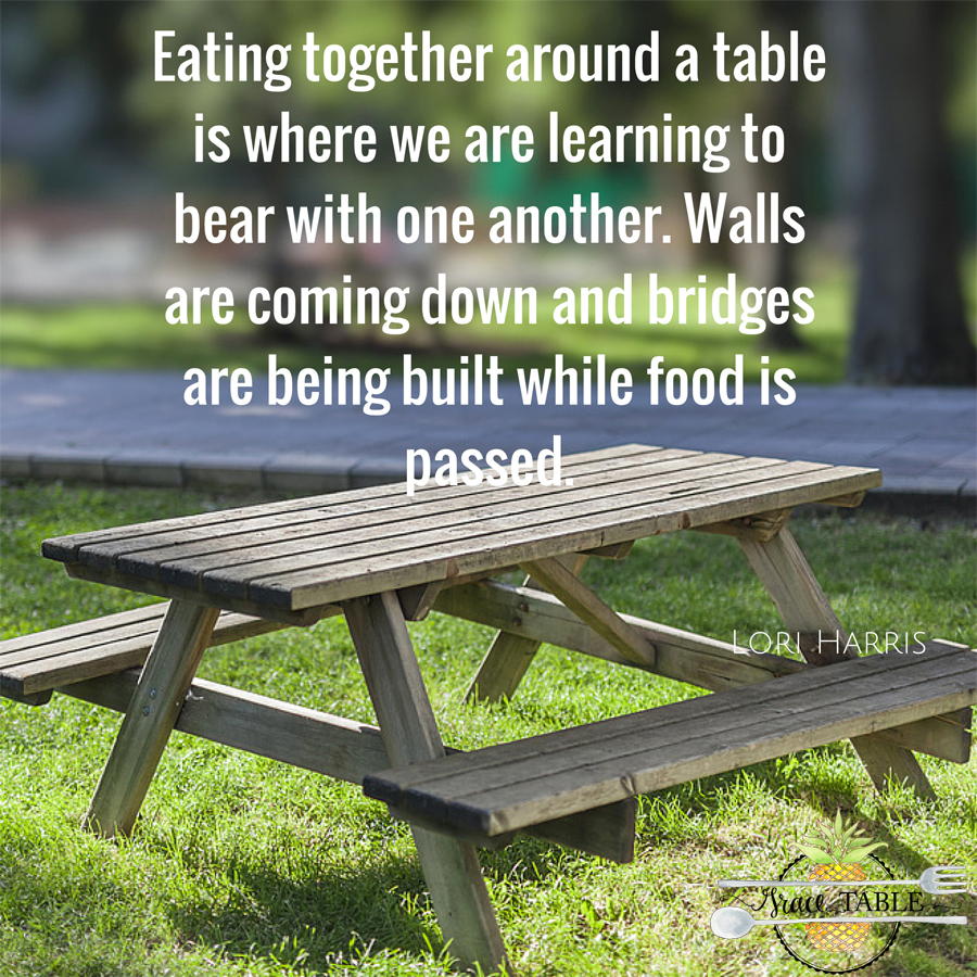 Eating together around a table is where