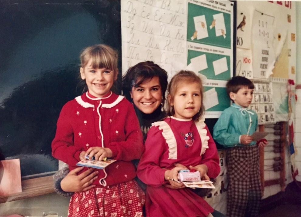 Kristin in Russia 1990