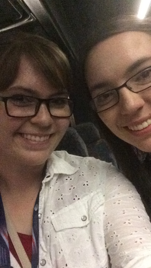 Here's a grainy selfie of my sister and me for good measure ;)