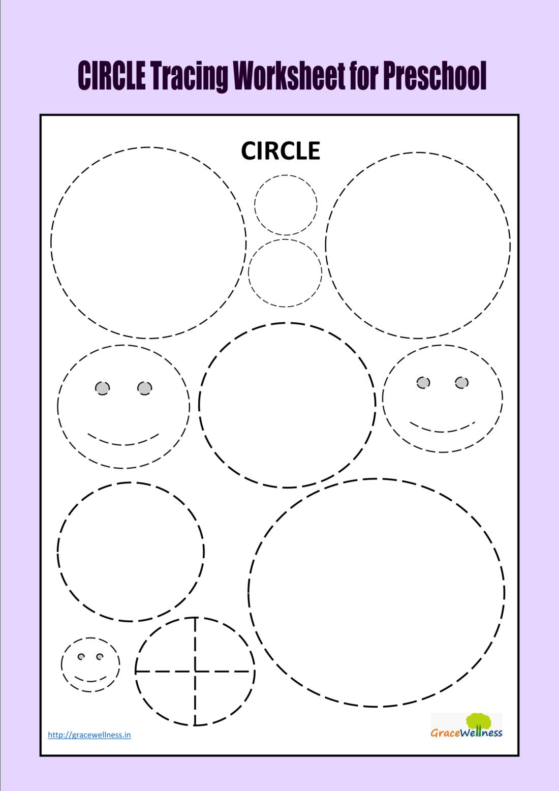 Circle Tracing Worksheet For Preschool Trace And Color Printable Shape  Worksheet - Download Printables Worksheets Digital Art Read Articles