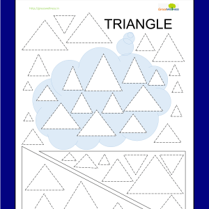triangle shape tracing worksheet preschool