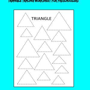 triangle tracing worksheet preschooler free