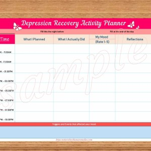 depression recovery planner