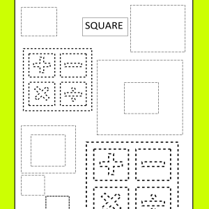 square tracing worksheet printable free
