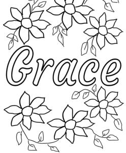 grace coloring pages