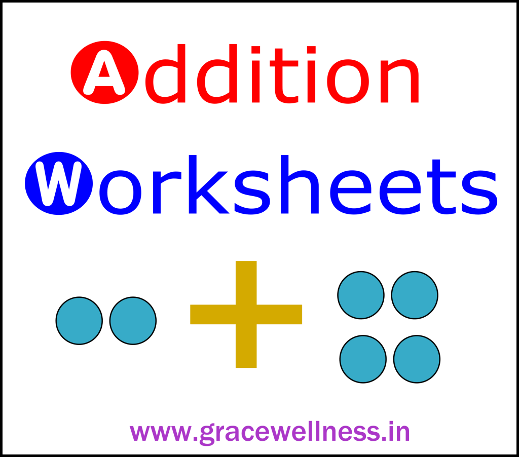 single digit addition worksheet printable