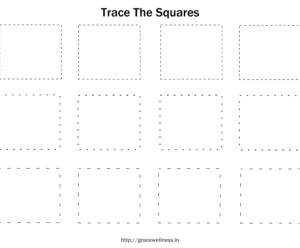 square tracing worksheets