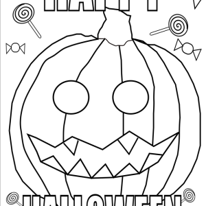 happy halloween pumpkin coloring page