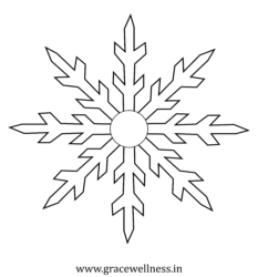Christmas coloring page snowflakes